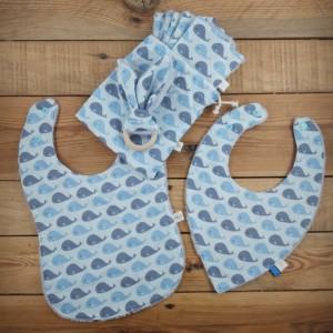 kit naissance cadeau naissance baleines création artisanale