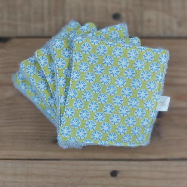 lingettes lavables démaquillantes zéro déchet création artisanale Lilie Cousette