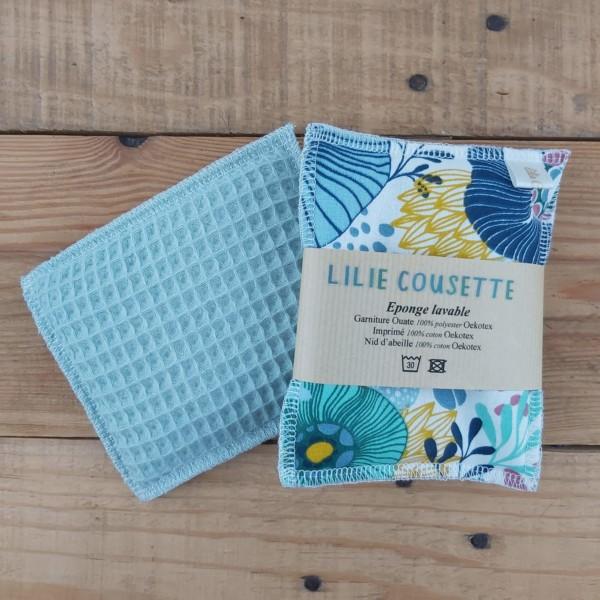 éponge lavable zéro déchet création artisanale lilie Cousette