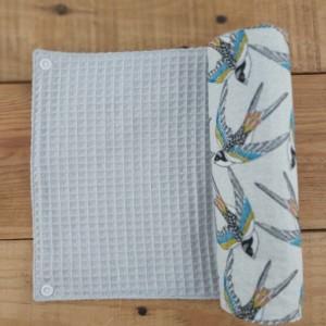 rouleau d'essuie-tout lavable fabrication artisanale en france
