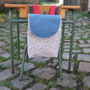 sac à dos modèle Romane idéal pour la rentrée en maternelle confection artisanale en petite quantité en normandie