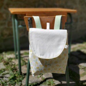 sac à dos spécial rentrée en maternelle, création artisanale dans la baie du mont st michel