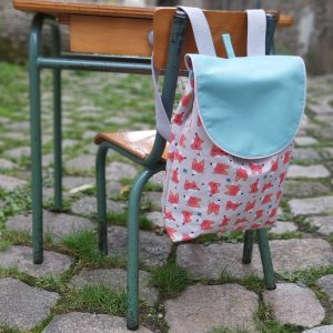 sac à dos idéal pour la rentrée en maternelle confection artisanale en petite quantité en Normandie