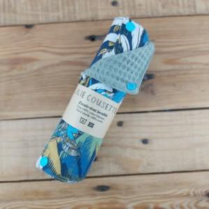 Rouleau d'essuie-tout lavable une alternative au jetable, zéro déchet, fabrication artisanale dans la Baie du Mont St Michel