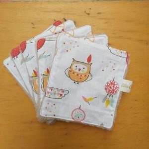 lingettes lavables démaquillantes zéro déchet création artisanale patchwork