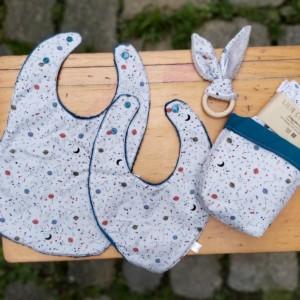 Trousseau naissance bébé idéal cadeau naissance, fabrication artisanale dans la Baie du Mont St Michel