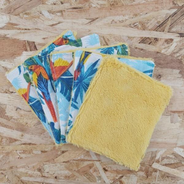 lingettes lavables démaquillantes zéro déchet création artisanale