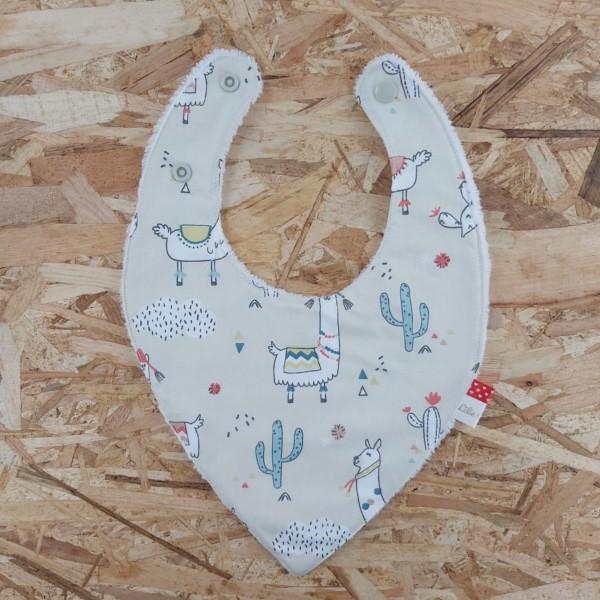 Bavoir bandana 0-6 mois, création artisanale dans la Baie du Mont St Michel