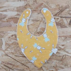 Bavoir bandana, création artisanale réalisée dans la Baie du Mont St Michel